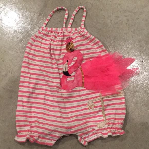 b58b4ec067e8 Perfect Mudpie Flamingo Romper. M 5be4f840f41452ac20fa30ef